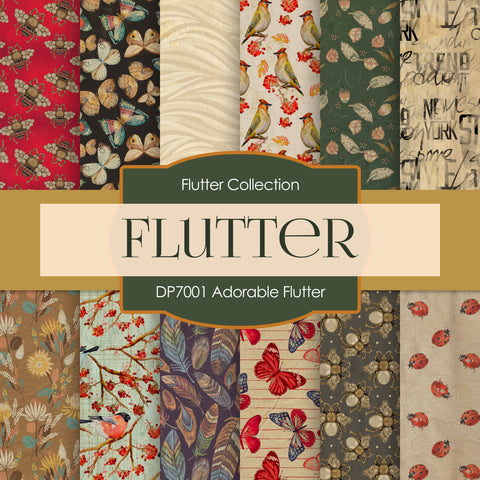 Adorable Flutter Digital Paper DP7001A
