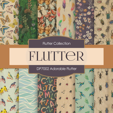 Adorable Flutter Digital Paper DP7002A