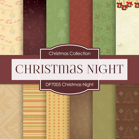 Christmas Night Digital Paper DP7005