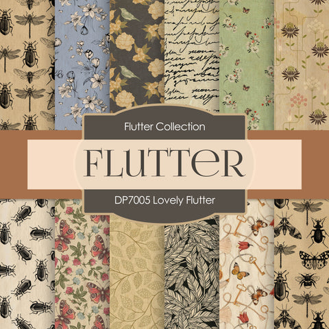 Lovely Flutter Digital Paper DP7005