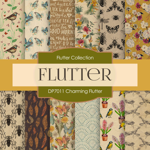 Charming Flutter Digital Paper DP7011A
