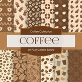 Coffee Beans Digital Paper DP7049