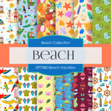Beach Vacation Digital Paper DP7080
