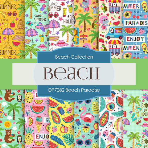 Beach Paradise Digital Paper DP7082