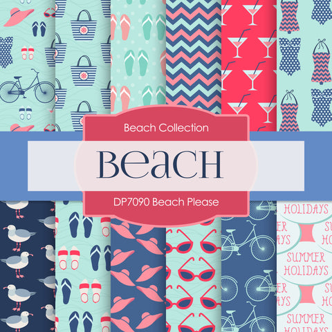 Beach Please Digital Paper DP7090