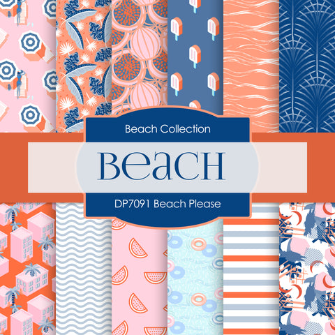 Beach Please Digital Paper DP7091