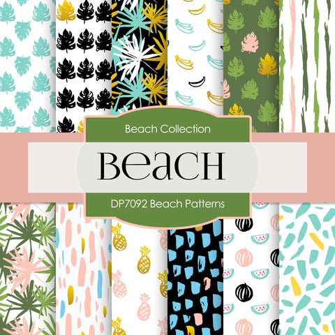 Beach Patterns Digital Paper DP7092