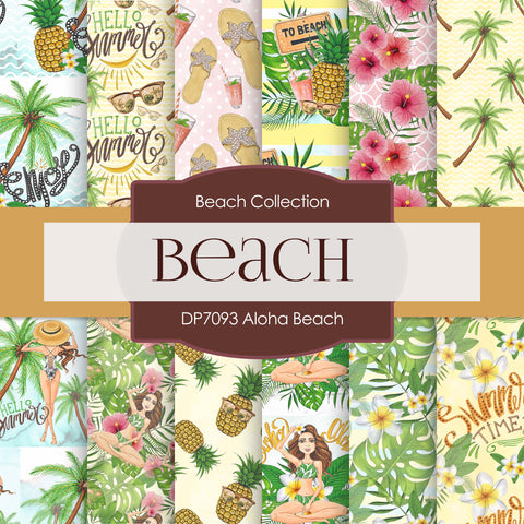 Aloha Beach Digital Paper DP7093