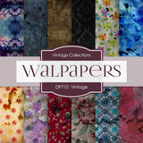 Vintage Wallpapers Digital Paper DP710 - Digital Paper Shop - 1