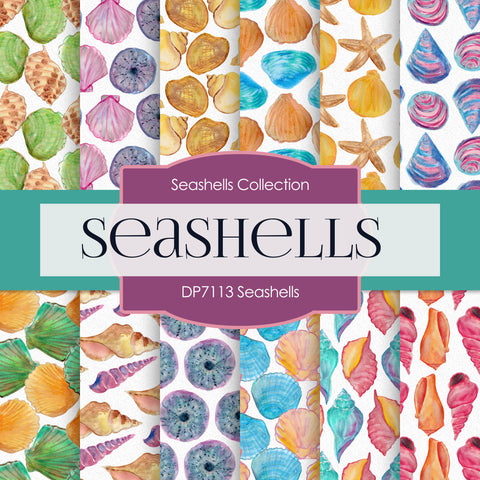 Seashells Digital Paper DP7113