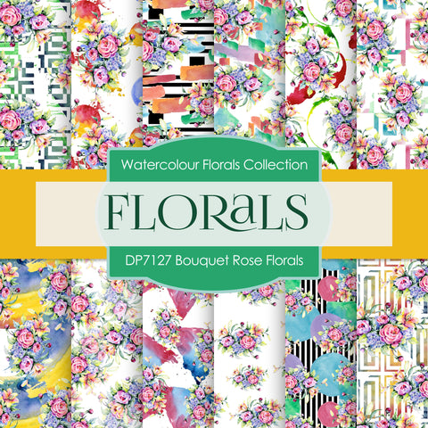 Bouquet Rose Florals Digital Paper DP7127
