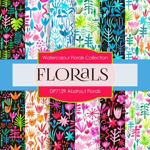 Abstract Florals Digital Paper DP7129