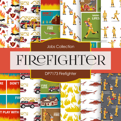 Firefighter Digital Paper DP7173