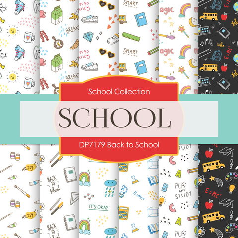 Back To School Digital Paper DP7179
