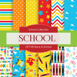 Back To School Digital Paper DP7189