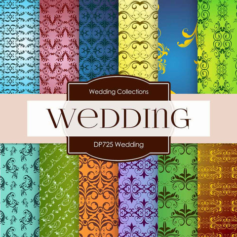 Wedding Digital Paper DP725 - Digital Paper Shop - 1
