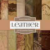 Leather Digital Paper DP732 - Digital Paper Shop - 1