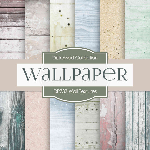 Wall Textures Digital Paper DP737 - Digital Paper Shop - 1