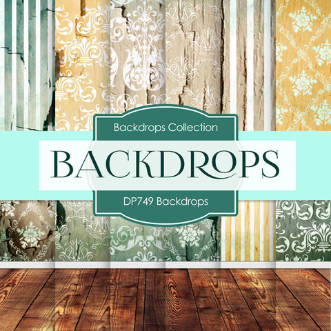 Backdrops Digital Paper DP749 - Digital Paper Shop - 1