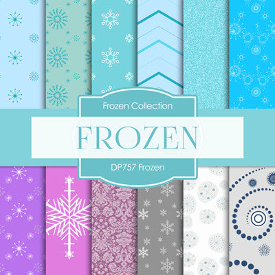 Frozen Digital Paper DP757 - Digital Paper Shop - 1