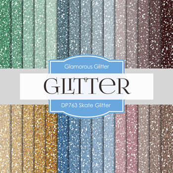 Skate Glitter Digital Paper DP763 - Digital Paper Shop - 1