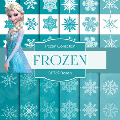 Frozen Digital Paper DP769 - Digital Paper Shop - 1