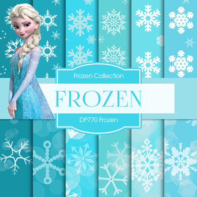 Frozen Digital Paper DP770 - Digital Paper Shop - 1