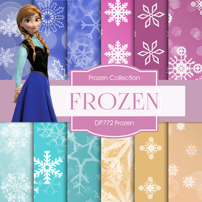 Frozen Digital Paper DP772 - Digital Paper Shop - 1