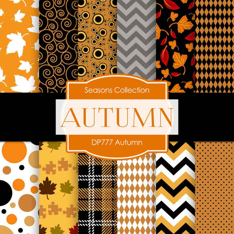 Autumn Digital Paper DP777 - Digital Paper Shop - 1