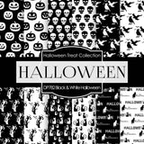 Black and White Halloween Digital Paper DP782 - Digital Paper Shop - 1