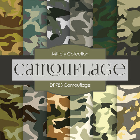 Camouflage Digital Paper DP783 - Digital Paper Shop - 1