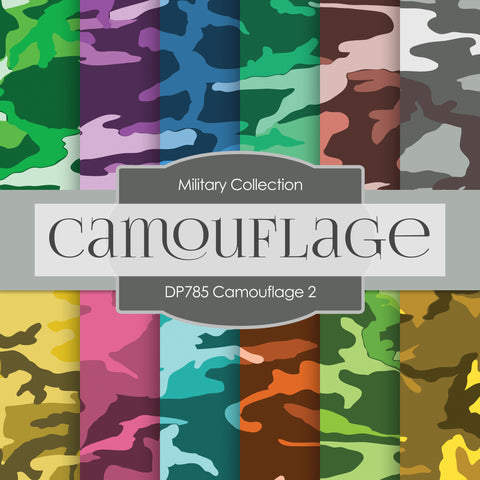 Camouflage Digital Paper DP785 - Digital Paper Shop - 1