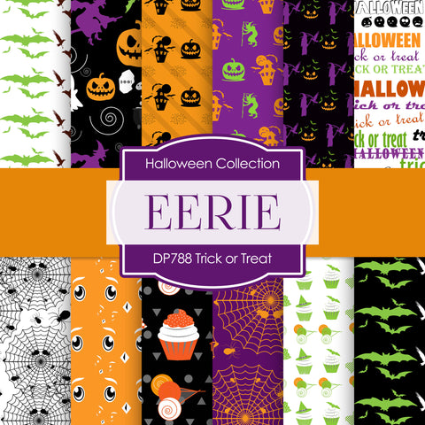 Trick or Treat Digital Paper DP788 - Digital Paper Shop - 1