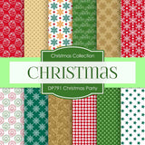 Christmas Party Digital Paper DP791 - Digital Paper Shop - 1