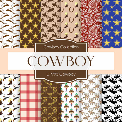 Cowboy Digital Paper DP793 - Digital Paper Shop - 1