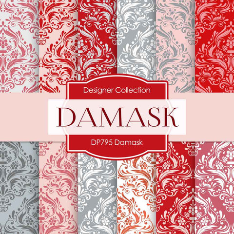 Damask Digital Paper DP795 - Digital Paper Shop - 1