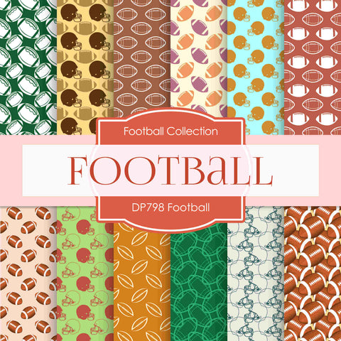 Football Digital Paper DP798 - Digital Paper Shop - 1