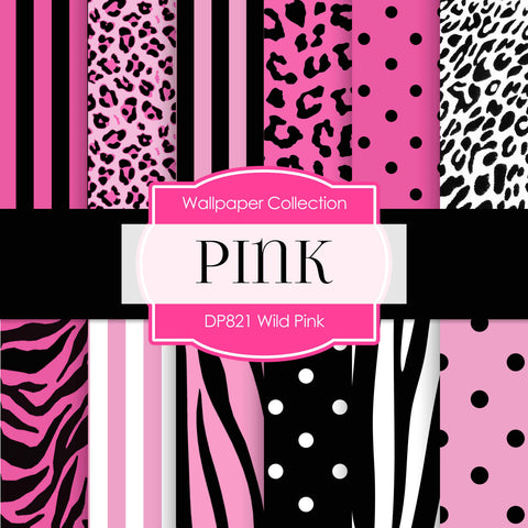 Wild Pink Digital Paper DP821 - Digital Paper Shop - 1