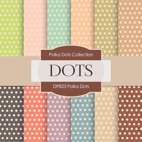 Polka Dots Digital Paper DP823 - Digital Paper Shop - 1