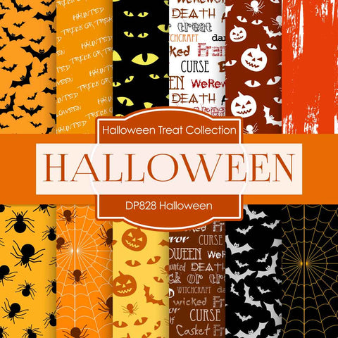 Halloween Digital Paper DP828 - Digital Paper Shop - 1