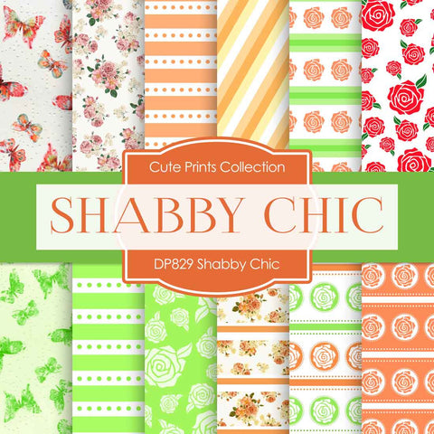 Shabby Chic Digital Paper DP829 - Digital Paper Shop - 1
