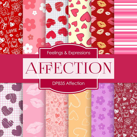 Affection Digital Paper DP835 - Digital Paper Shop - 1
