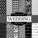 Wedding Digital Paper DP839 - Digital Paper Shop - 1