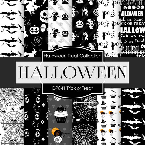 Trick or Treat Digital Paper DP841 - Digital Paper Shop - 1