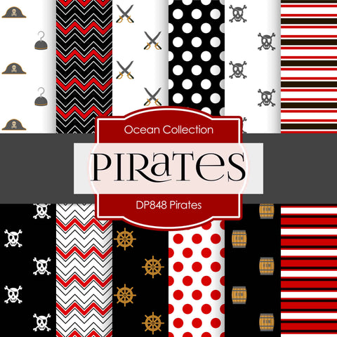 Pirates Digital Paper DP848 - Digital Paper Shop - 1