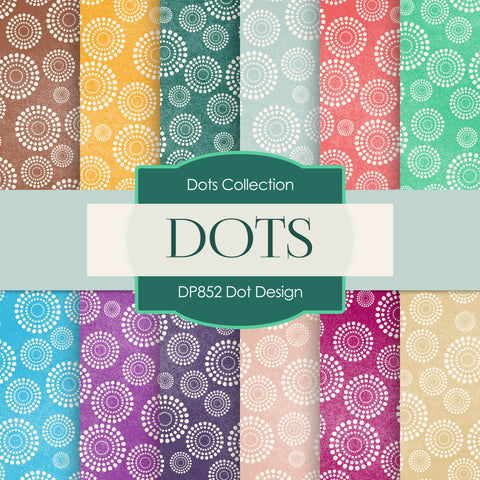 Dot Design Digital Paper DP852 - Digital Paper Shop - 1