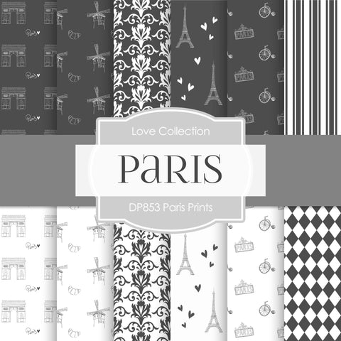 Paris Prints Digital Paper DP853 - Digital Paper Shop - 1