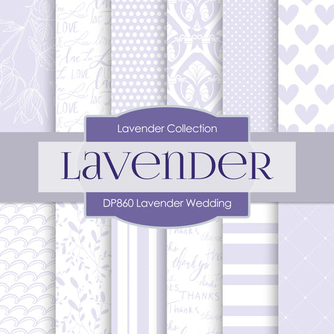 Lavender Wedding Digital Paper DP860 - Digital Paper Shop - 1