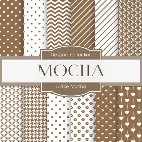 Mocha Digital Paper DP869 - Digital Paper Shop - 1