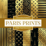 Paris Prints Gold Digital Paper DP881 - Digital Paper Shop - 1